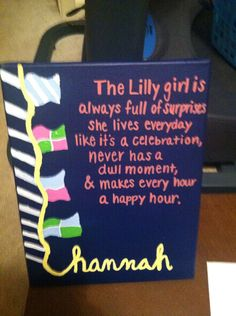 Lilly Pulitzer Canvas-Quote