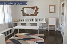 Turn a formal living room into a Family Study!