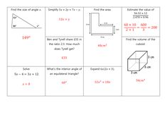 GCSE Non Calculator Revision Mats: Higher and Foundation Gcse Revision, Student Work, Grade 1, Calculator, Mathematics, Teaching Resources, Foundation, Math, Learning Resources