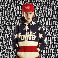 The NYC natives behind ALIFE's latest collection are about to take over your closet with bold colors and wild patterns. American flag motifs are featured, along with the brands traditional logos. Interestingly, the collection is riddled with mentions to Bernie Madoff, who smuggled anywhere between $10-17 million, one of the largest frauds in U.S. History. Themes of the company are embedded in every inch of this collection, to include snapbacks, tees, hoodies, sweaters, and jerseys.