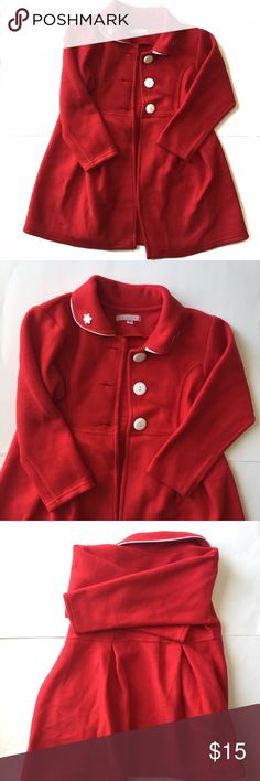 Red Pea Coat-Girl's 7 Beautiful red Pea Coat from Peru. Brand is Maxima. Is a Peruvian size 8, about a US size 7. In great gently used condition.  *bundle your likes and save!  Tag: outerwear, formal Jackets & Coats Pea Coats