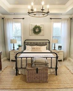 Hauptschlafzimmer 54 Simply Farmhouse Master Bedroom Design Ideas Match For Any Room, Small Master Bedroom, Farmhouse Master Bedroom, Master Bedroom Design, Home Decor Bedroom, Modern Bedroom, Bedroom Designs, Bedroom Styles, Budget Bedroom, Farm Bedroom