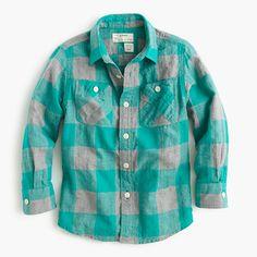 flannel shirt in buffalo check | crewcuts
