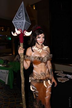 Nidalee is a hunter from the lands south of the Great Barrier in League of Legends.
