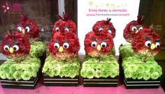 Angry Birds ... made with flowers ;)