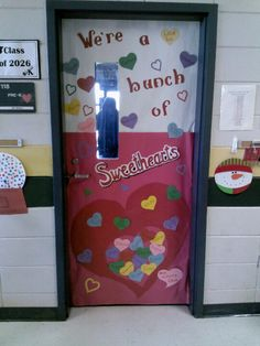 Sweetheart candy classroom door!