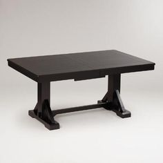 Dining room table, expands to 8... maybe too much - WorldMarket.com: Antique Black Verona Trestle Table