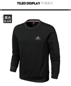 30a31a147c30 Spring Summer 2018 Real Adidas 2018 Mens New Style Sport Casual Sweater AK  L-4XL 861759 Black