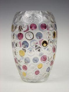 Borské Sklo 'Nemo' glass vase. Designed by Max Kannegiesser by art-of-glass, via Flickr