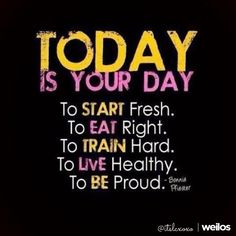 Today is your day quotes quote fitness workout motivation proud healthy exercise motivate fitness quote fitness quotes workout quote workout quotes exercise quotes train hard Fitness Home, Sport Fitness, Fitness Tips, Health Fitness, Fitness Goals, Dance Fitness, Health Goals, Elite Fitness, Free Fitness