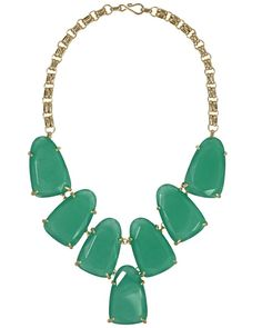loveeee the color of this! Harlow Necklace in Green - Kendra Scott Jewelry