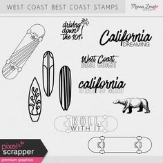 West Coast Best Coast Stamps Kit