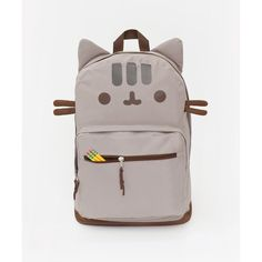 Pusheen the Cat backpack ($28) ❤ liked on Polyvore featuring bags, backpacks, cat backpack, knapsack bags, cat bag, rucksack bag and backpacks bags