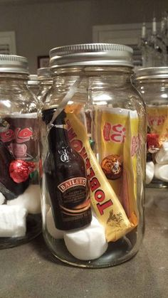 Great idea, Irish themed: Guinness with tia maria, Lily O'Briens chocs and maybe a mini pamper set.