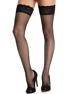 Amoretu Womens Back Seam Lace Fishnet Stockings >>> You can find more details by visiting the image link. (This is an affiliate link) Stockings Outfit, Garters And Stockings, Stockings And Suspenders, Stocking Tops, Stocking Tights, Estilo Dark, Bas Sexy, Fashion Tights, Girls In Leggings