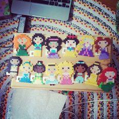 Disney Princesses perler beads by cheerfulcherry4
