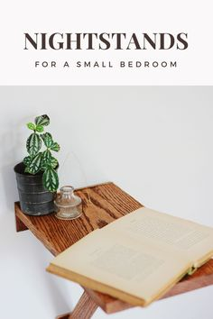 Small and cool nightstands that perfectly fit a small space bedroom!