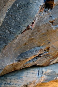 Climbing reach - Paradise Lost 5.13a, Purgatory, Red River Gorge