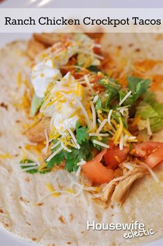 Ranch Chicken Crockpot Tacos