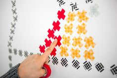 """Make your own washi """"cross stitch"""" wall art with this tutorial."""