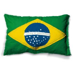 Flags Cushion Brazil design by Seletti (220 BRL) ❤ liked on Polyvore featuring home, home decor, throw pillows, pillows, cotton throw pillows, seletti, handmade home decor and flag throw pillow