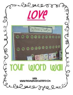 This packet describes my unique approach to getting my students interested in the words in our  room.  It explains how I use my Word Wall, my weekl...