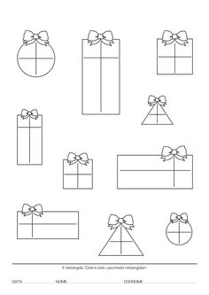 Last Christmas, Christmas Colors, Christmas Decorations, Preschool Writing, Preschool Learning Activities, Silent Book, Shapes Worksheets, Winter Crafts For Kids, Christmas Templates