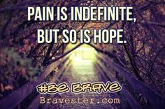 inspirational quote:  pain is indefinite