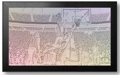 NBA Basketball - Handel von Foto Kunst