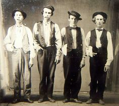 Billy the Kid, Doc Holiday, Jesse James & Charlie Bowdre 1879