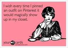I wish everytime I pinned an outfit on Pinterest it would magically show up in my closet.Shop Velvetswalkincloset.com