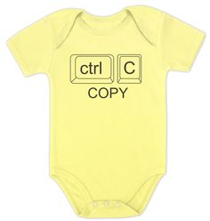 Copy Paste Ctrl Twins Baby Onesie