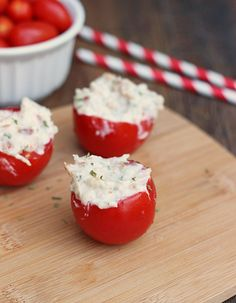 Chicken Bacon Ranch Tomato Bites - Whats Cooking Love?