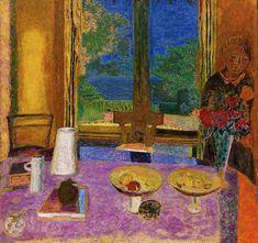 """lawrenceleemagnuson: """" Pierre Bonnard (France 1867-1947) Dining Room on the Garden - Grande salle à manger sur le jardin (1934-1935) oil on canvas 126.8 x 135.3 cm """""""
