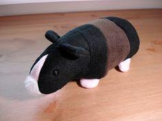 Fleece Menagerie: Stuffed Hairless/ Skinny Guinea Pig