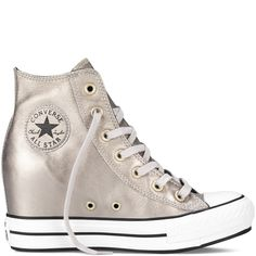 Chuck Taylor All Star Metallic Platform Plus portrait grey Customize for our day :]