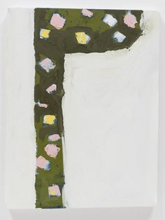 Richard Aldrich  Untitled, 2008   Shaped canvas, oil and wax on muslin 14.75 x 11 inches 37.5 x 26.7 cm