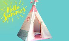 ΤΑ ΑΠΑΡΑΙΤΗΤΑ ΓΙΑ ΤΟ ΚΑΛΟΚΑΙΡΙ|ΣΚΗΝΗ TEEPEELICIOUS Teepee Kids, Teepee Tent, Teepees, Toddler Bed, Children, Handmade, Decor, Child Bed, Young Children