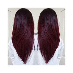 Cherry Bombré Is The Fall Hair Color Every Brunette Will Want to Try ❤ liked on Polyvore featuring accessories and hair accessories