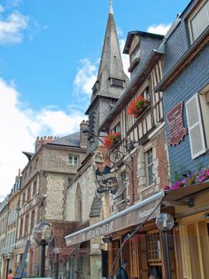 Streets of Honfleur, Normandy, France - naturally pretty enough not to need horrible digital over processing :-)