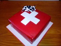 Switzerland flag CAKE - Cake by Camelia