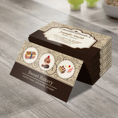 Sweet Bakery Custom Cakes Chocolates Dessert Business Card You Can Customize This With