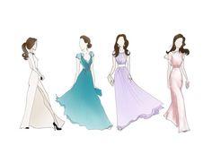 "Kate Middleton, Duchess of Cambridge Fashion Prints 8.5""x11"" Gowns"