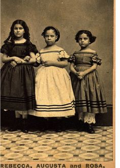 The Emancipation of Rebecca, Augusta & Rosa, circa Black History Album. Black Art, Portraits Victoriens, American Women, American Children, Mixed Race, We Are The World, Interesting History, Before Us, African American History