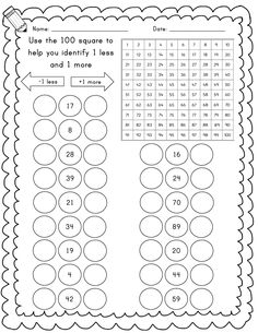 Year Maths worksheets - 1 more, 1 less, 10 more, 10 less by emmavgriffin - Teaching Resources - Tes Year 1 Maths Worksheets, Number Words Worksheets, First Grade Worksheets, First Grade Math, Preschool Writing, Preschool Learning Activities, Teaching Resources, Math Lesson Plans, Math Lessons