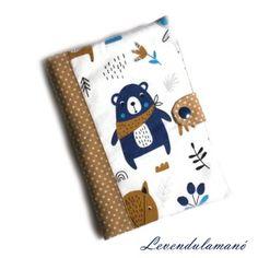 Kék mackó Egészségügyi kiskönyv borító FIÚKNAK, Otthon & Lakás, Papír írószer, Könyv- és füzetborító, Meska Mac, Poppy