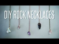 She's Making Her Own DIY Rock Necklace at Home and It's Darling. Learn How To Make Yours Here!