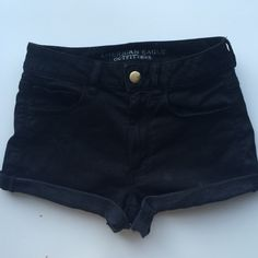 Black High Waisted Shorts Could fit 4-6. Worn once or twice American Eagle Outfitters Shorts