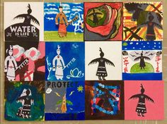 Beautiful Wow! School Teacher, Johna Hupfield, had her class do some of midnight doodles!! My heart goes out to the Children of the World and their message for Clean Water. Together we can make it happen. <3 #WaterIsLife #RiseStrong Isaac Murdoch
