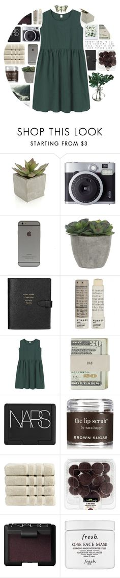 """""""Untitled #128"""" by indie-by-heart ❤ liked on Polyvore featuring Crate and Barrel, Fujifilm, Lux-Art Silks, Smythson, Korres, Jack Spade, NARS Cosmetics, Sara Happ, Christy and Fresh"""